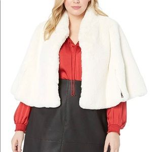 Betsey Johnson Faux-Fur Cape ( plus size) sz 1x
